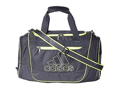adidas Defender III Small Duffel (Onix/Hi-Res Yellow) Duffel Bags