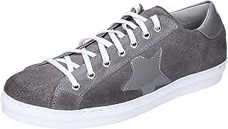 OSSIANI Sneaker Uomo Pelle Scamosciata Grigio