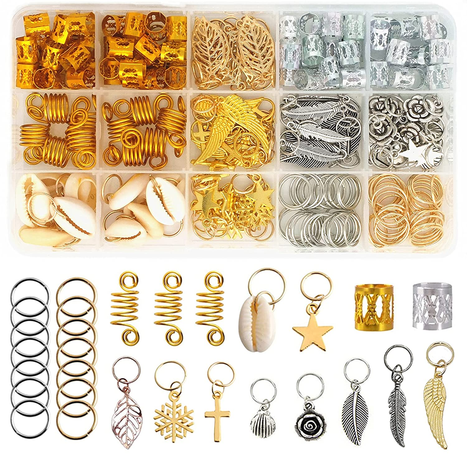 220 Pieces Braiding 2021 new Hair Rings Selling and selling for 15 Jewelry Women Style