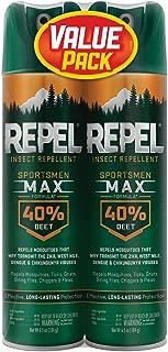 Repel Insect Repellent Sportsmen Max Formula 40% DEET, Aerosol, 2/6.5-Ounce