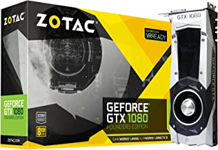ZOTAC GeForce GTX 1080 Founders Edition, ZT-P10800A-10P, 8GB GDDR5X Dual-link DVI-I Display Port, HDMI Gaming Graphics Card (Renewed)