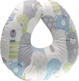 Extra-Soft Breastfeeding Baby Support Pillow w/100% Hypoallergenic Removable Slipcover | Antibacterial Newborn Infant Feeding Cushion | Portable for Travel | Nursing Pillow for Boys&Girls