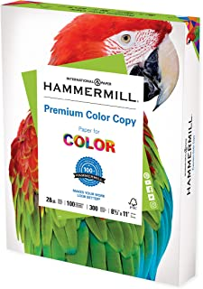 Hammermill Printer Paper, Premium Color 28 lb Copy Paper, 8.5 x 11 - 1 Pack (300 Sheets) - 100 Bright, Made in the USA