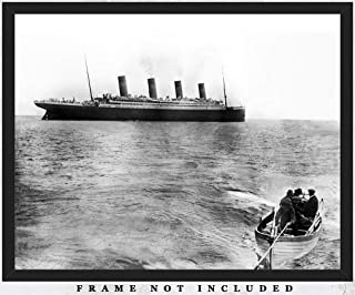 Last Known Photo of Titanic Afloat Wall Art Print: Unique Room Decor for Boys, Men, Girls & Women - (8x10) Unframed Picture - Great Gift Idea Under $15 for Titanic Fans