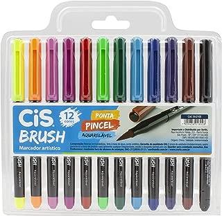 Marcador Artístico, CIS, Brush 59.2100, Multicor