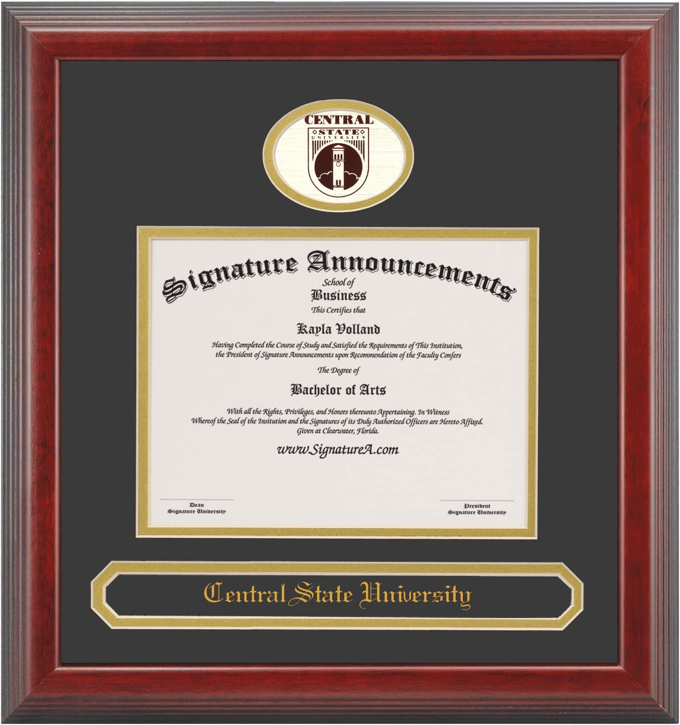 Signature Announcements Central-State-University Foil Sculpted Recommendation OFFer S
