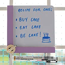 IVEI Wooden Fridge Magnets with a whiteboard and Hooks - to do Magnets for Fridge - Writing Boards Small (Purple Belan)