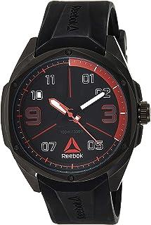 Reebok Mens Quartz Watch, Analog Display and Silicone Strap RD-UPP-G2-SBIB-BR