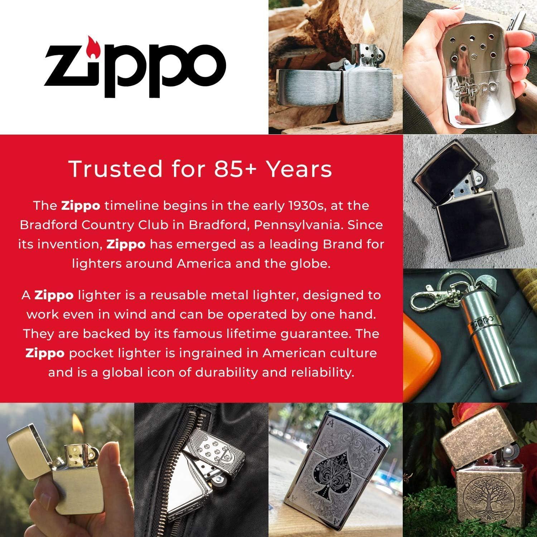 Zippo Armor Briquet de poche r/ésistant au vent en laiton vieilli
