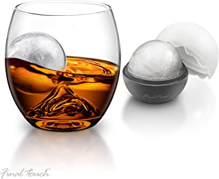 Final Touch On The Rock Glass with Ice Ball Maker
