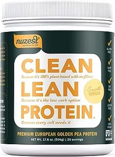 Nuzest Clean Lean Protein - Premium Vegan Protein Powder, Plant Protein Powder, European Golden Pea Protein, Dairy Free, Gluten Free, GMO Free, Naturally Sweetened, Smooth Vanilla, 20 Servings, 1.1 lb