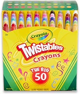 Crayola Mini Twistables Crayons, 50 Colours, Durable, Twist for Fun, No Sharpening Needed, Art & Craft,  Kids and Back to ...