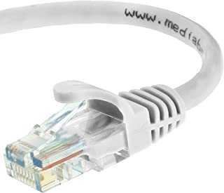 Mediabridge Ethernet Cable (15 Feet) - Supports Cat6 / Cat5e / Cat5 Standards, 550MHz, 10Gbps - RJ45 Computer Networking Cord (Part# 31-299-15B)