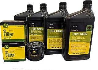 John Deere Original Equipment Double Oil Change Kit - (4) TY22029 + (2) AM125424