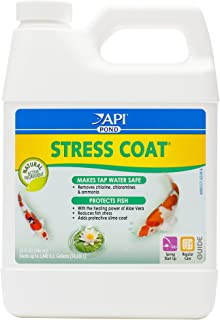 API Pond Stress Coat Pond Water Conditioner 32-Ounce Bottle