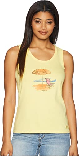 Unplug Beach Umbrella Sleeveless Crusher Tee