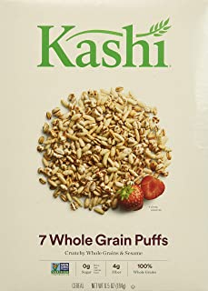 Kashi 7 Whole Grain Puffs Cereal, 7.5-Ounce Boxes (Pack of 6)