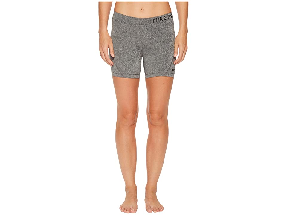 Nike Pro 5 Training Short (Charcoal Heather/Black) Women