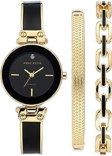 Women's Genuine Diamond Dial Watch and Bracelet Set, AK/3346