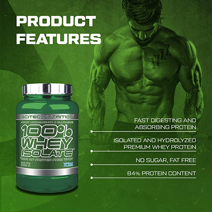 Scitec Nutrition 100% Whey Isolate con L-glutamina adicional, 700 g, Frambuesa