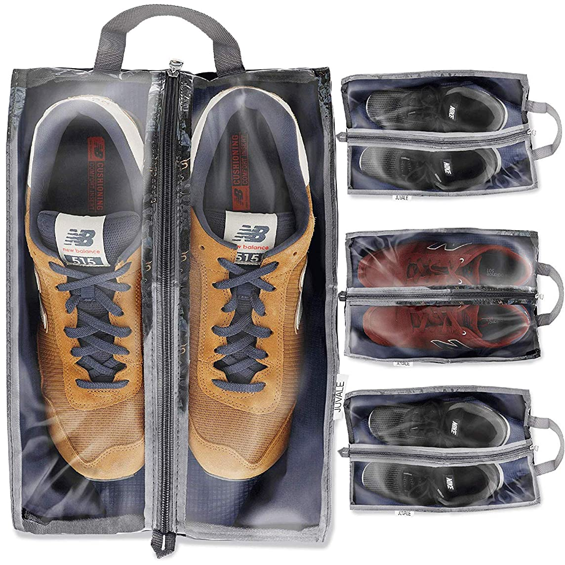 Juvale Portable Shoe Tote Bags for Travel and Storage