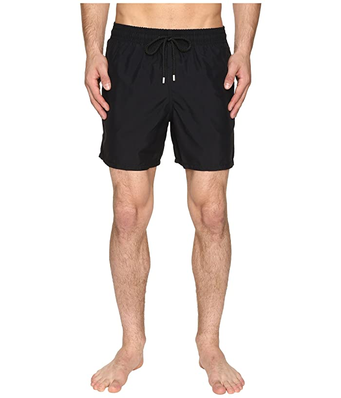 Vilebrequin Moorea Classic Solid Swim Trunk (Black) Men