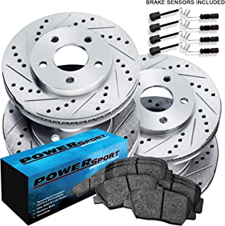 [FULL KIT] PowerSport Drilled Slotted Brake Rotors + Ceramic Pads BLCC.35165.02