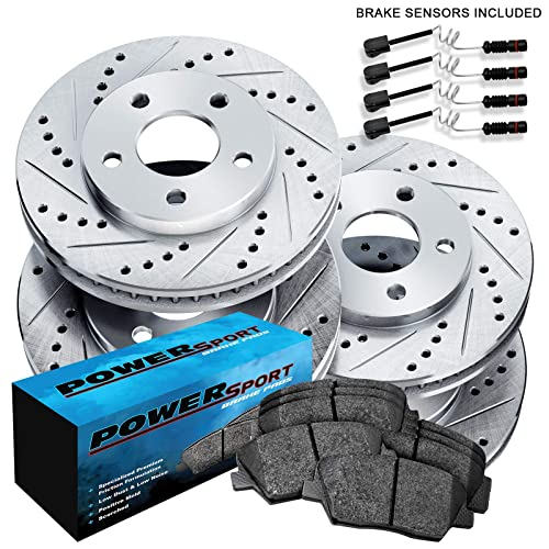 Front Drill Slot Brake Rotors /& Ceramic Pads For Mercedes Benz S350 S430 S500
