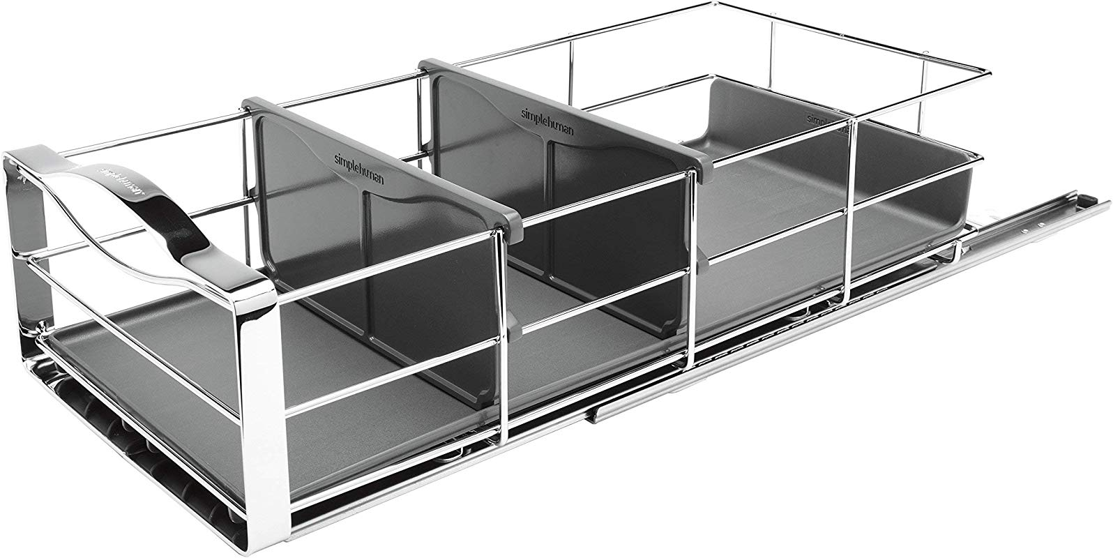 Simplehuman Pull Out Cabinet Organizer 9 Stainless Steel Renewed