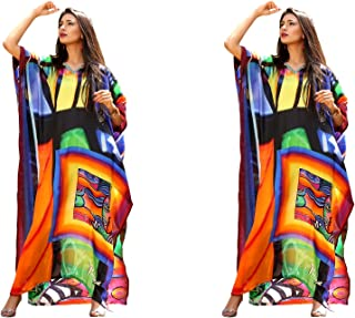 Silk kaftan Wish to be a Diva!!! Makeover with Our Beach Style Picasso Printed Picasso Inspired Printed Beach wear Kaftan 139