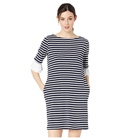 Tribal Stripe Knit Removable Cuff Dress (Dark Sky) Women