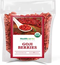 Healthworks Raw Goji Berries (32 Ounces / 2 Pound) | Certified Organic & Sun-Dried | Keto, Vegan & Non-GMO | Baking, Teas ...