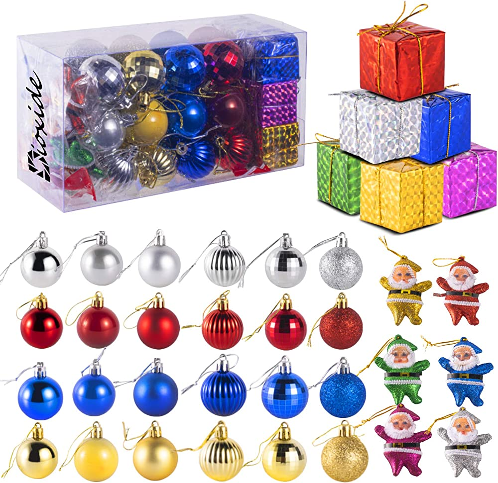 Dioxide set di 36 accessori decorativi per l`albero di natale Dioxide