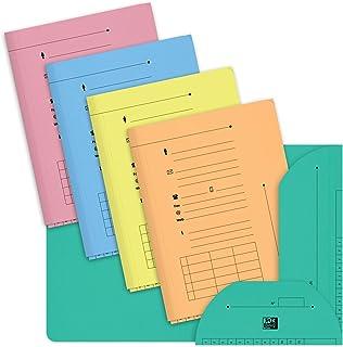 OXFORD Lot de 10 Sous-Dossiers A4 Capacité 200 Feuilles Carte Kraft Epaisseur 240g Coloris Assortis Pastel
