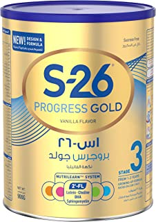 Nestle Wyeth Nutrition S26 Progress Gold Stage 3, 1-3 Years Premium Milk Powder for Toddlers 900g with Nutrilearn System(Pack of 1)