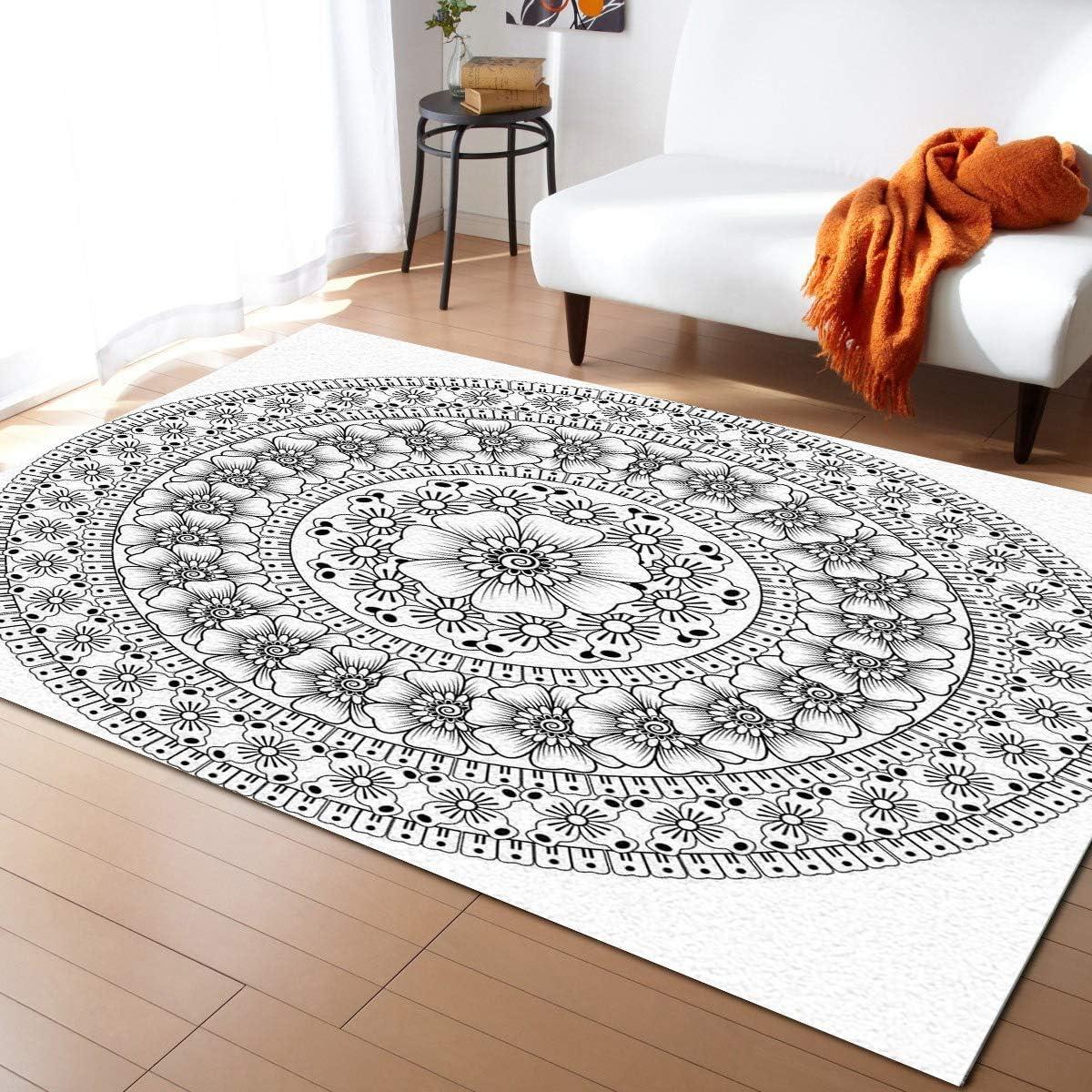 Olivefox Product 4x6 Feet Floor Mat Rug In stock Pattern Area Runn Mandala