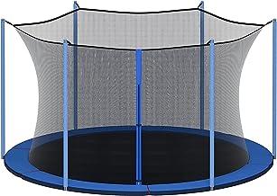 QYK -Ronde trampoline-behuizing,Trampoline-behuizing zwart,Omheining vervangend veiligheidsgaasnet,Vervangende trampoline-...