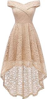 Vestido Cóctel Vintage Dama de Honor A-línea Elegante Encaje Fiesta Noche Vestido para Mujer