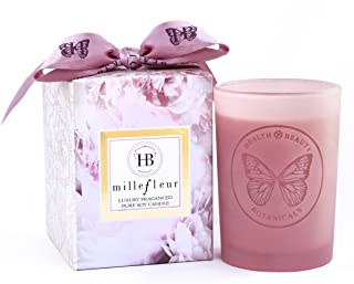 HB Botanicals Candle/Millefleur Limited Edition/Luxury Scented Soy Candles/Hand Poured/ Highly Scented & Clean Burn/7.5 Oz...