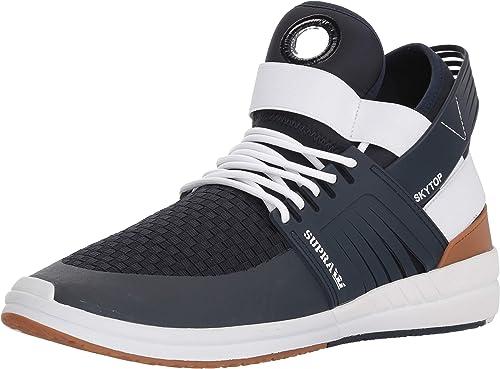 Supra Hommes's Skytop V chaussures,6.5,Navy blanc-blanc