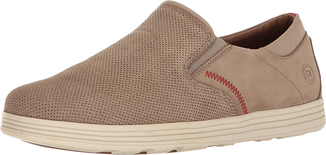 Dunham Men's Colchester Slipon Fashion baskets, Taupe, 10 D US