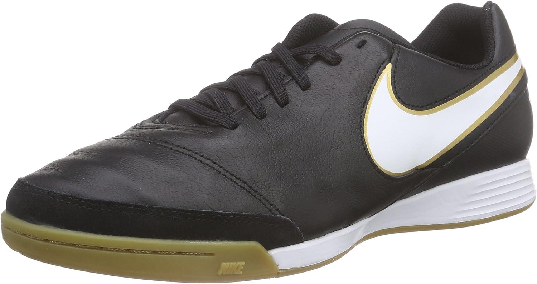 Nike Men's Tiempo Genio II Leather IC Indoor Football Soccer Boots- Black Turquoise
