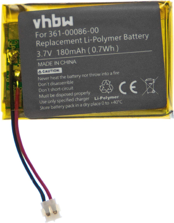 vhbw Batería Recargable Compatible con Garmin Forerunner 735xt, GRM0371754 smartwatch, Reloj de Actividad (180 mAh, 3,7 V, polímero de Litio)