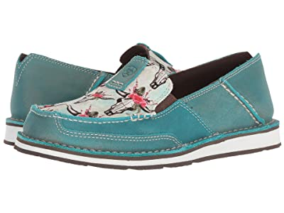 Ariat Cruiser (Shimmer Turquoise/Steers & Roses Print) Women