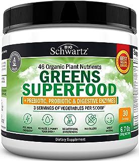 Super Greens Powder - 3 Servings of Veggies per Scoop   45+ Organic Green Superfoods (Alfalfa, Chlorella, Spirulina & Mor...