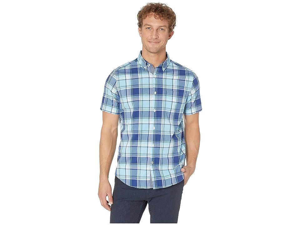 Nautica Classic Fit Plaid Shirt (Alaskian Blue) Men