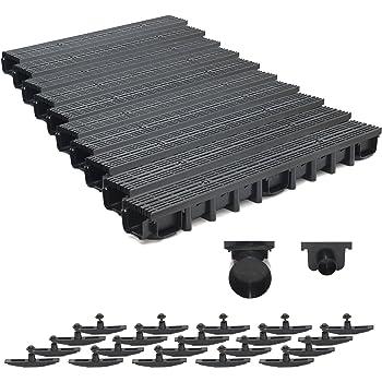 komplett Grau Decor 7m Entwässerungsrinne für modulares System A15 98mm