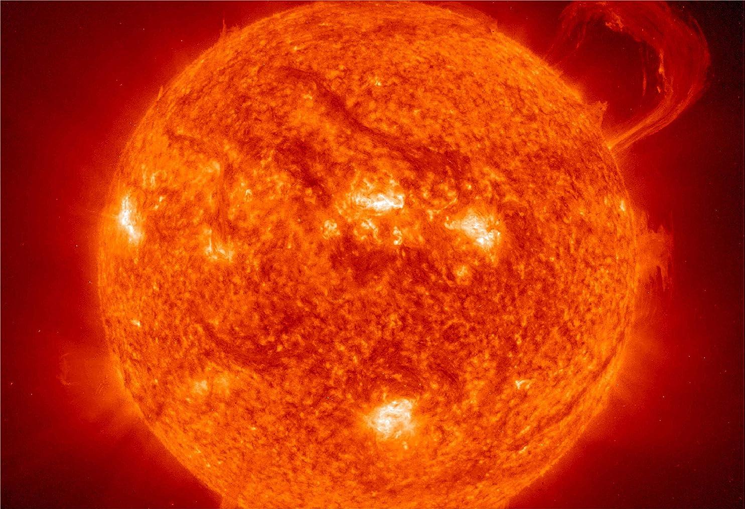 簡単に征服発音Solar Flare SunハンドルHiグロススペースポスターFineアートプリント 13-x-19-inch 13-NHAV-0275