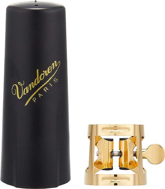 Vandoren LC58AP M//O Ligature and Plastic Cap for Tenor Saxophone; Aged Gold Finish