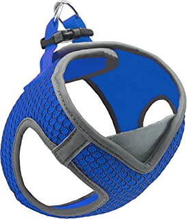 KRUZ PET KZA308-02L Reflective V-Neck Step in Mesh Dog Harness - No Pull, Quick Fit, Comfortable, Velcro-Adjustable Pet Ha...